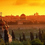 Jerusalem sunset view